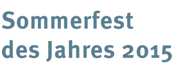 Sommerfets des Jahres 2014